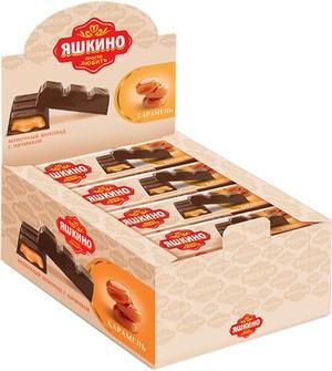 К-Шоколадный батончик Яшкино мол.с карамельн. нач. 47г