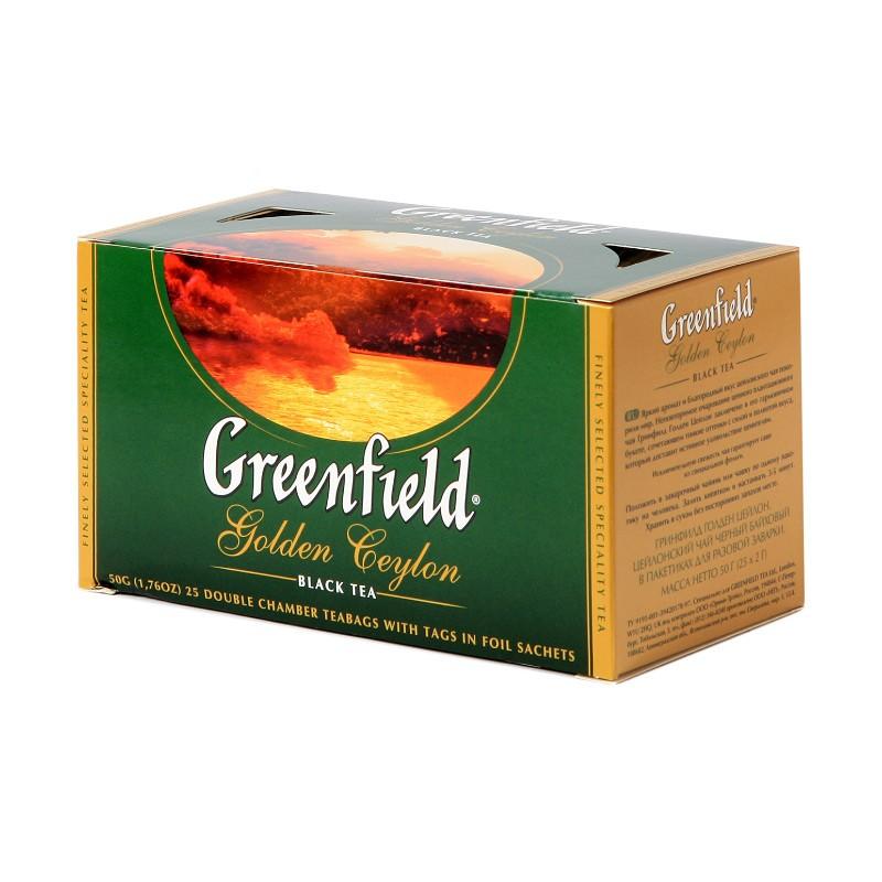 Б-Чай Гринфилд Golden Ceylon, черн., 25п.*2г