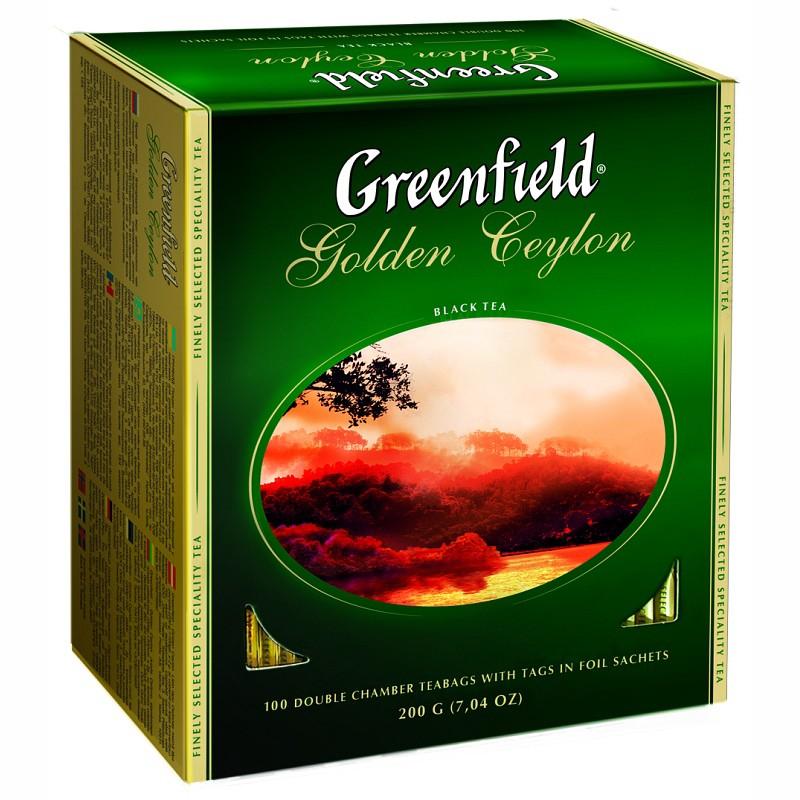 Б-Чай Гринфилд Golden Ceylon, черн., 100п.*2г.