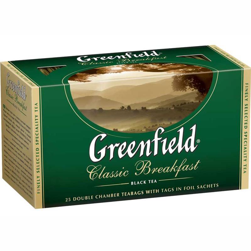 Б-Чай Гринфилд Classic Breakfast, черн., 25п.*2г.