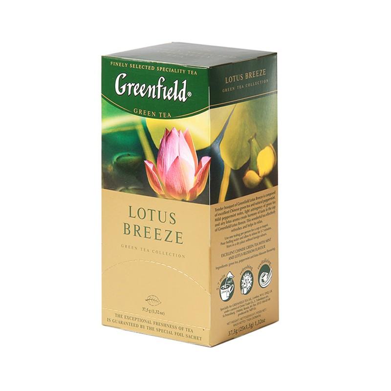 Б-Чай Гринфилд Lotus Breeze, зел.,25п.*2г