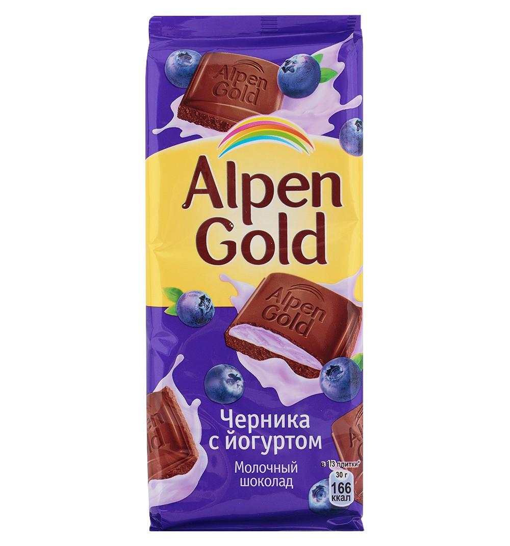 К-Шоколад Алпен Голд, черника/йогурт, 100г